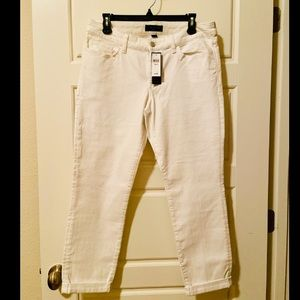 Banana Republic white ankle jeans size 10